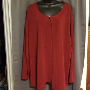 Jaclyn Smith faux 2 piece blouse size 3X